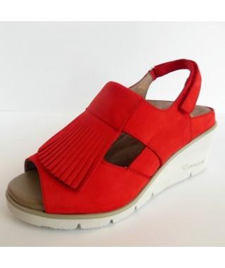 Sandalo da donna colore rosso F.LLI TOMASI