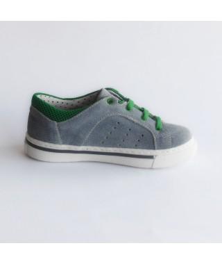 Scarpa da tennis da bambino colore grigio/verde DUNA SRINT