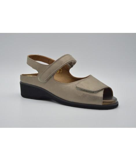 Sandali casual grigio chiaro con allacciatura elasticizzata per donna o3PQX