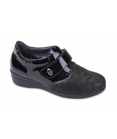 Goldstar scarpa ortopedica linea Valleverde Comfort MOD 601 Nero/Vernice