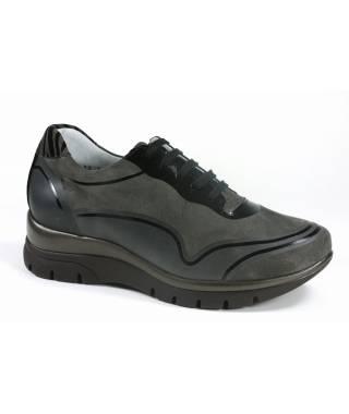 Loren scarpa con lacci e zeppa donna