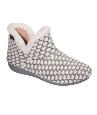 Scholl pantofola a stivaletto CREAMY BOOTIE