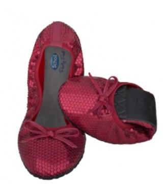 Pocket ballerina paillettes rosso SCHOLL