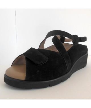 Sandalo da donna predisposto per plantare nero F.LLI TOMASI