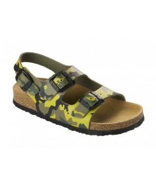 Sandalo da bambino Air Bag Kid verde mimetico Scholl