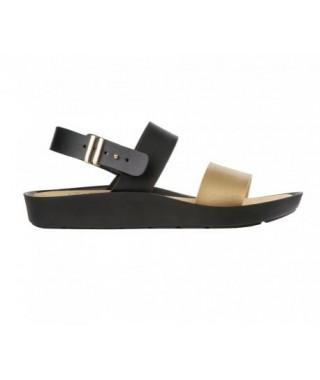 Sandalo nero e oro Mamore Scholl