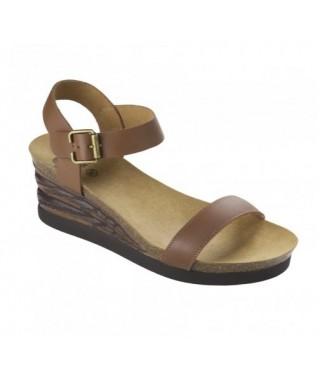 Sandalo marrone con zeppa Ninfea Scholl